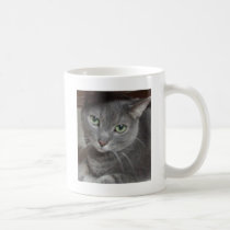 Russian Blue Gray Cat Coffee Mug