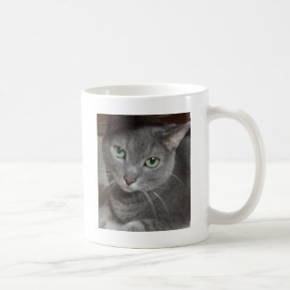 Russian Blue Gray Cat Classic White Coffee Mug