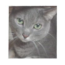 Russian Blue Gray Cat Notepad