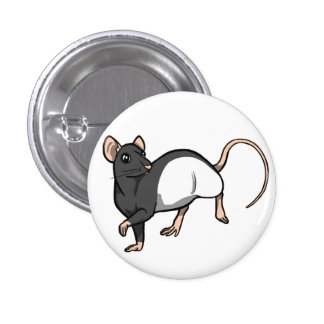 Russian Blue Hooded Rat badge 1 Inch Round Button