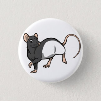Russian Blue Hooded Rat badge Pinback Button