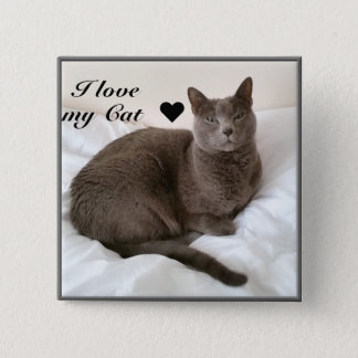 Russian Blue. I love my Cat ♥ Button