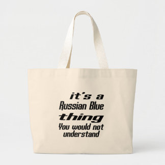 Russian Blue Thing Designs Jumbo Tote Bag