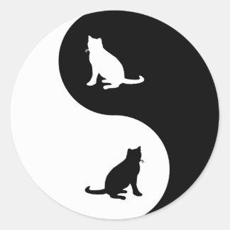 Russian Blue Yin Yang Classic Round Sticker