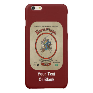 Russian Bogatyr Beer Glossy iPhone 6 Plus Case