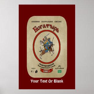 Russian Bogatyr Beer Poster