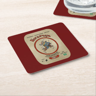 Russian Bogatyr Beer Square Paper Coaster