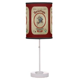 Russian Bogatyr Beer Table Lamp