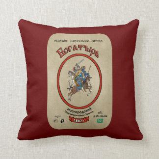 Russian Bogatyr Beer Throw Pillow