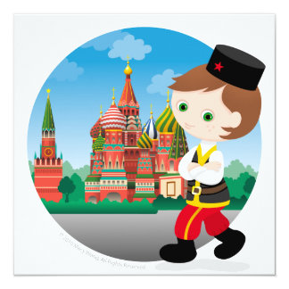 Russian boy card