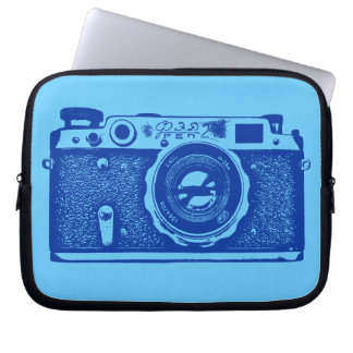 Russian Camera - Shades of Blue Laptop Sleeve