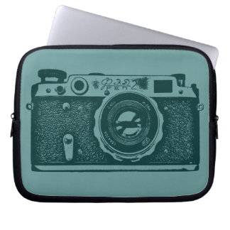 Russian Camera - Shades of Green Laptop Sleeve