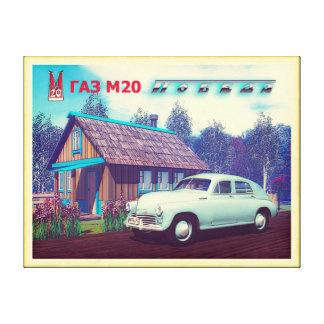 Russian Car And Dacha Canvas Print