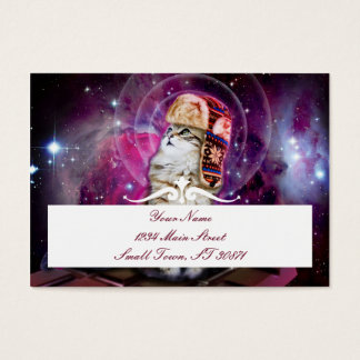 russian cat in space business card