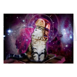 russian cat in space card