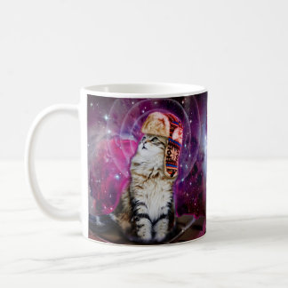 russian cat in space coffee mug