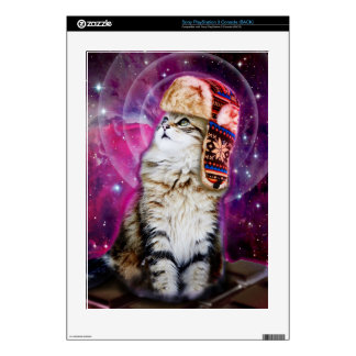 russian cat in space decal for the PS3