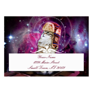 russian cat in space large business card