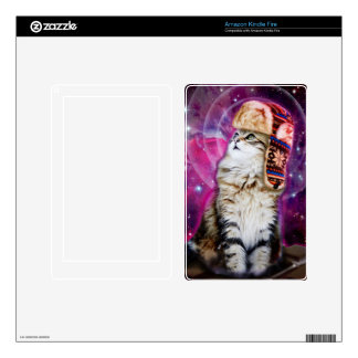 russian cat in space skin for kindle fire