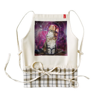 russian cat in space zazzle HEART apron