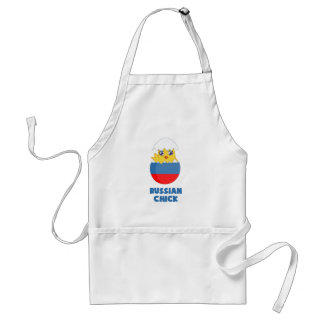 Russian Chick, a Girl from Russia Adult Apron