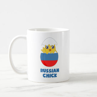 Russian Chick, a Girl from Russia Classic White Coffee Mug