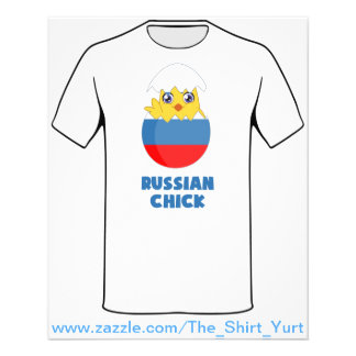 Russian Chick, a Girl from Russia Flyer