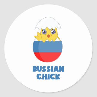 Russian Chick, a Girl from Russia Round Sticker