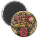 russian church 2 inch round magnet