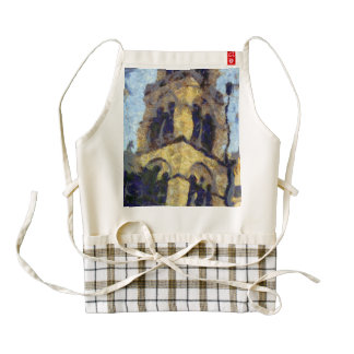 Russian Church Bell Tower in Athens Zazzle HEART Apron