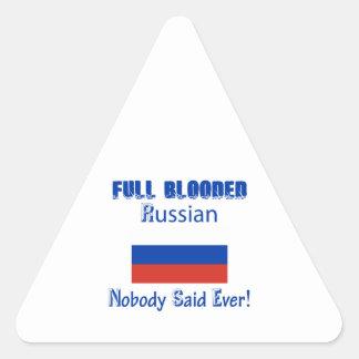 russian citizen design triangle sticker
