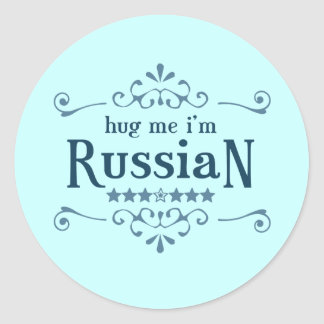 Russian Classic Round Sticker
