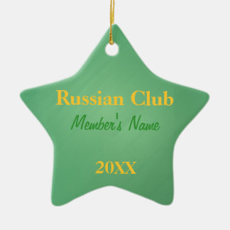Russian Club, Foreign Language Club Ornaments