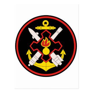 Russian Coastal Troops, Chief Staff shoulder patch Postcard