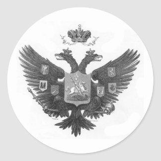 Russian Coat of Arms Classic Round Sticker