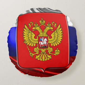 Russian Coat of arms Round Pillow