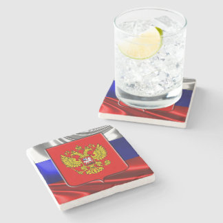 Russian Coat of arms Stone Coaster