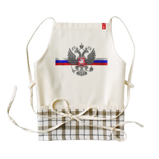 Russian Coat of arms Zazzle HEART Apron