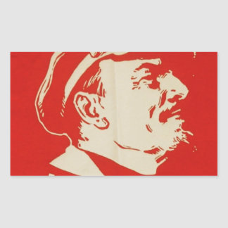 Russian Communist Leader Lenin Rectangular Sticker