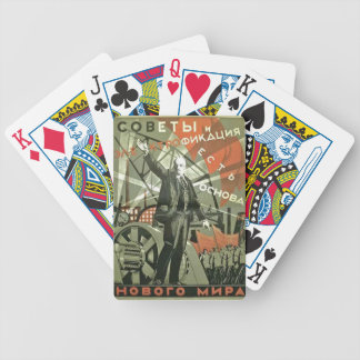 Russian Communist Propaganda Poster Bicycle Playing Cards