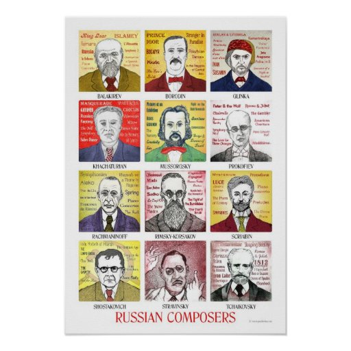 Russian Composers poster