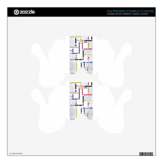 Russian Dance by Theo van Doesburg PS3 Controller Skin