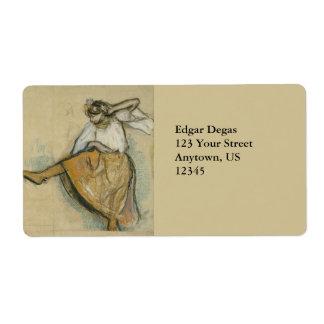 Russian Dancer by Edgar Degas Label