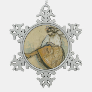 Russian Dancer by Edgar Degas Snowflake Pewter Christmas Ornament