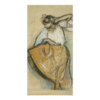Russian Dancer by Edgar Degas Personalized Photo Card