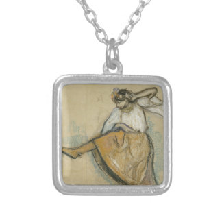 Russian Dancer by Edgar Degas Silver Plated Necklace
