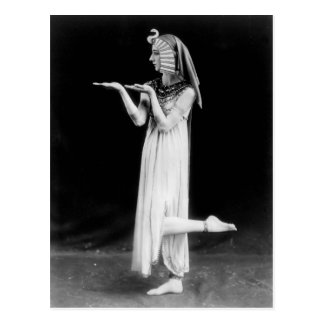 Russian dancer in Cleopatra costume Postcard