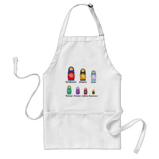 Russian Days of the Week Adult Apron