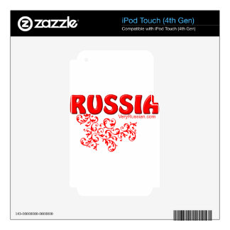 Russian Decals For iPod Touch 4G