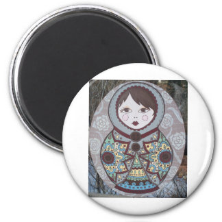 Russian Doll 2 Inch Round Magnet